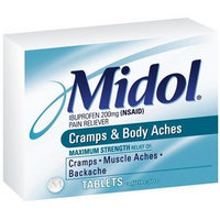 Midol Cramps & Body Aches Tablets 24-Count Boxes (Pack of 4)