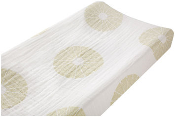 aden + anais Organic 100% Cotton Muslin Changing Pad Cover - Oasis