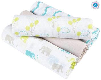 aden + anais (aden) for Diapers.com Swaddle Wrap 4 Pk - Cotton Muslin - Ellie Star
