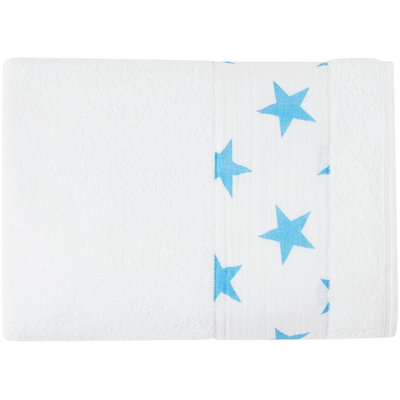 aden + anais Fluro Toddler Towel (Blue Stars)