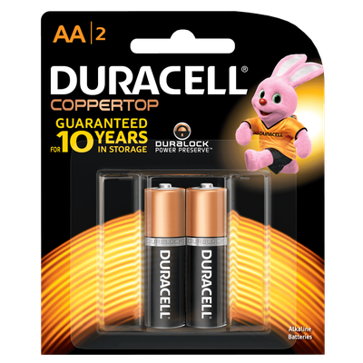 Duracell® Coppertop Alkaline AA Batteries