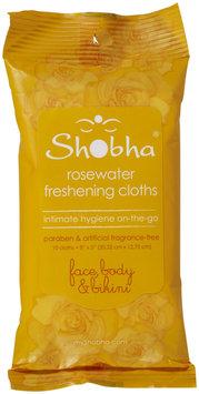 Shobha Rosewater Freshening Cloths 10 count