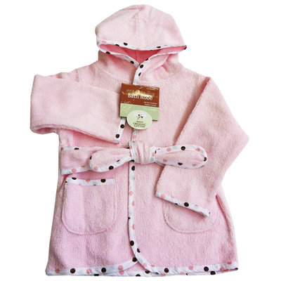 American Baby Company Organic Terry Baby Bath Robe - Pink