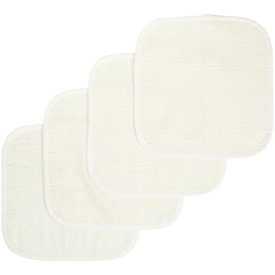 American Baby Company Organic Terry Wash Cloth Of 4 -Ecru