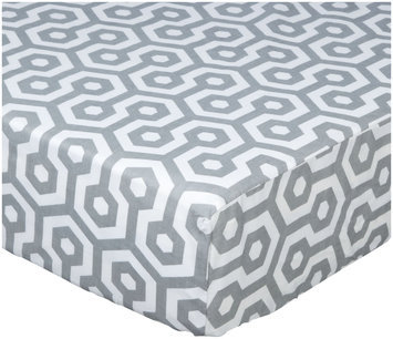 American Baby Company 100% Cotton Percale Fitted Crib Sheet - Gray Honeycomb - 1 ct.
