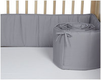 American Baby Company 100% Cotton Percale Crib Bumper - Gray - 1 ct.