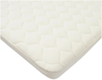 American Baby Company Organic Waterproof Quilted Bassinet Mattress Pad Cover- Natural