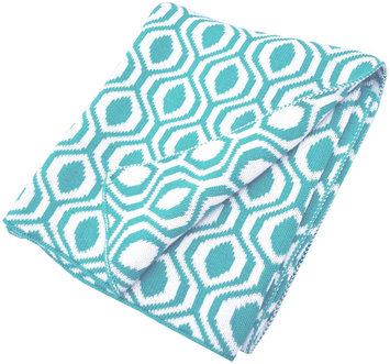 American Baby Company 100% Cotton Sweater Knit Blanket - Aqua Ogee