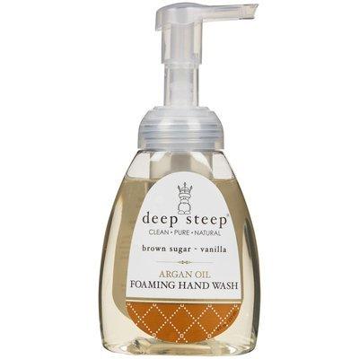 Deep Steep Argan Oil Foaming Hand Wash Brown Sugar Vanilla 8 fl oz