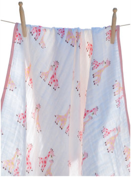 Angel Dear Nap Blanket - Pink Giraffe - 1 ct.