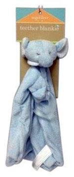 Angel Dear Blue Elephant Teether Blankie - 1 ct.