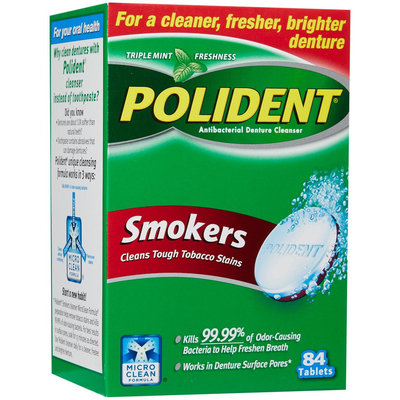 Polident Antibacterial Denture Cleanser for Smokers