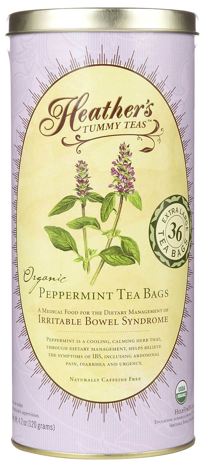 Heather's Tummy Care Tummy Tea Organic Peppermint Tea Bags, 36 ct