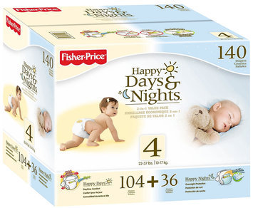 Fisher Price Day & Night Diaper Combo Box Case - Size 3 156ct.