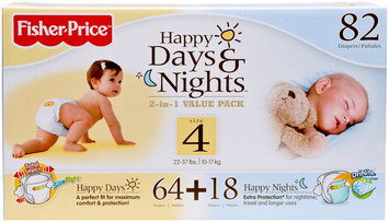 Fisher Price Fisher-Price Day & Night Diaper Combo Pack - 82 ct.