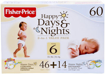 Fisher Price Fisher-Price Day & Night Diaper Combo Pack - 60 ct.