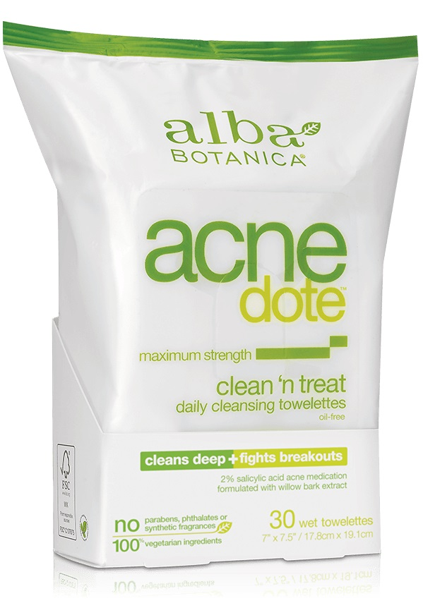 Alba Botanica Acnedote™ Clean 'n Treat Towelettes