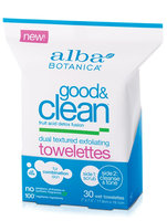 Alba Botanica Good & Clean™ Dual Textured Exfoliating Towelettes