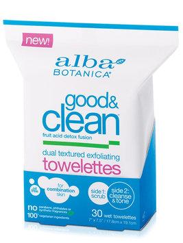 Alba Botanica Good & Clean™ Dual Textured Exfoliating Towelettes