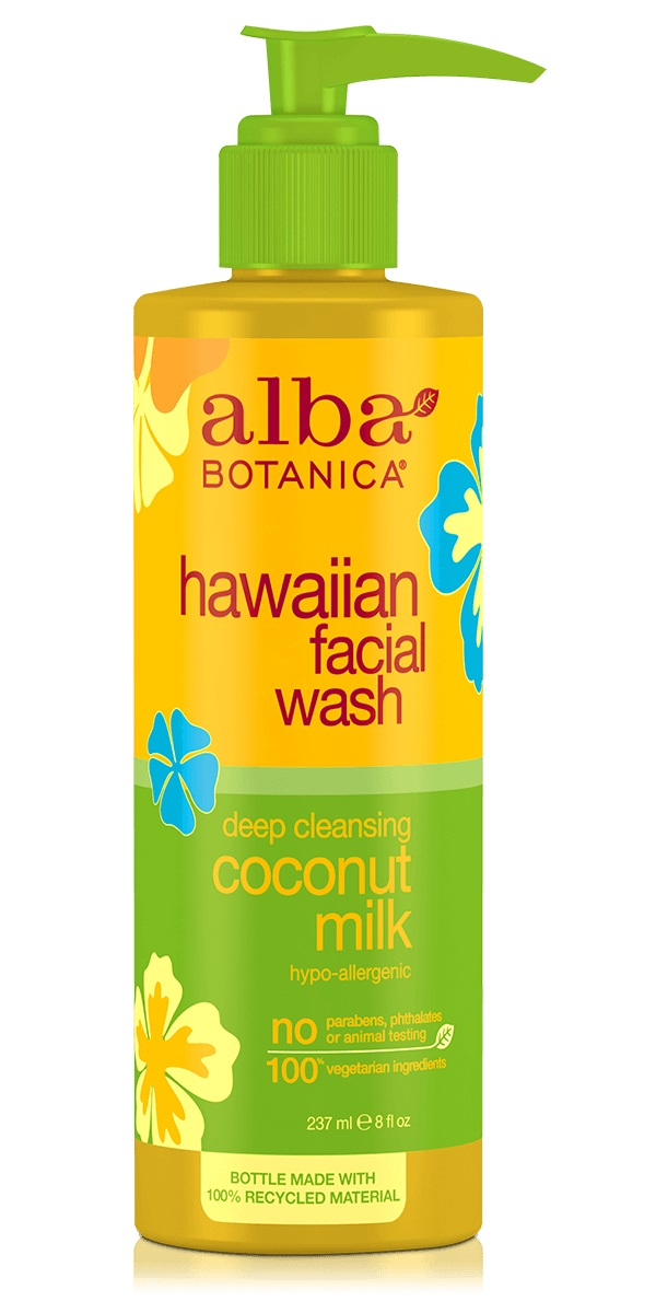 Alba Botanica Hawaiian Facial Wash Deep Cleansing Coconut Milk