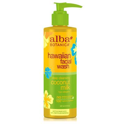 Alba Botanica Hawaiian Facial Wash Deep Cleansing Coconut Milk