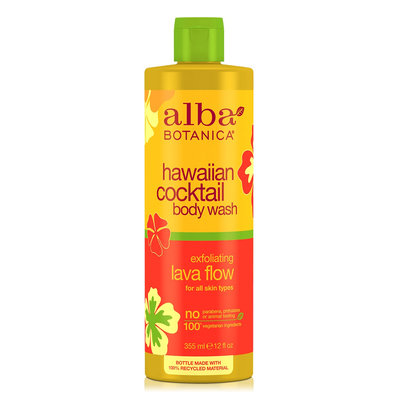 Alba Botanica Hawaiian Cocktail Body Wash Exfoliating Lava Flow