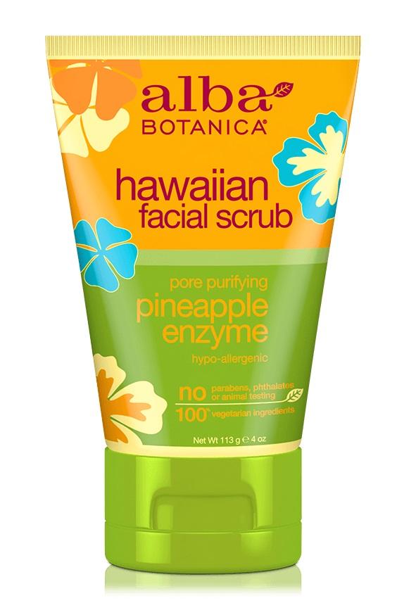 Alba Botanica Hawaiian Facial Scrub Pore Purifying Pineapple Enzyme