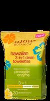 Alba Botanica Hawaiian 3-in-1 Clean Towelettes Deep Pore Purifying Pineapple Enzyme