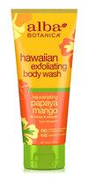 Alba Botanica Hawaiian Exfoliating Body Wash Rejuvenating Papaya Mango