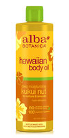 Alba Botanica Hawaiian Body Oil Deep Moisturizing Kukui Nut