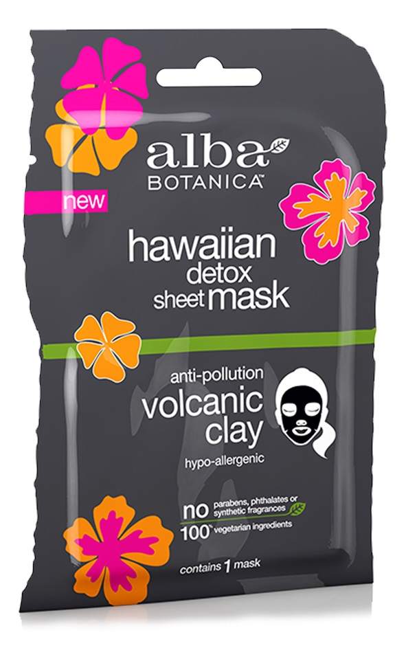 Alba Botanica Hawaiian Detox Sheet Mask Anti-pollution Volcanic Clay