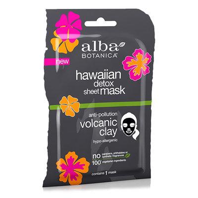 Alba Botanica Hawaiian Detox Sheet Mask Anti-pollution Volcanic Clay
