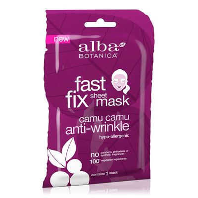Alba Botanica Fast Fix Sheet Mask Camu Camu Anti-Wrinkle