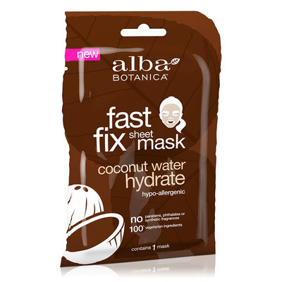 Alba Botanica Fast Fix Sheet Mask Coconut Water Hydrate
