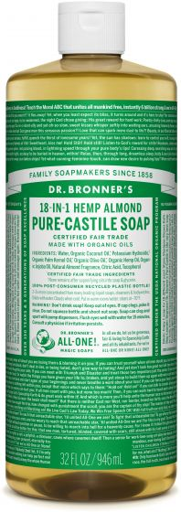 Dr. Bronner's 18-in-1 Hemp Almond Pure Castile Soap