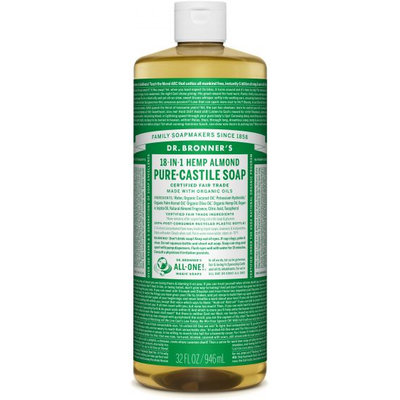 Dr. Bronner's 18-in-1 Hemp Almond Pure Castile Soap