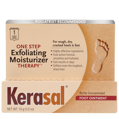 Kerasal Exfoliating Moisturizing Foot Ointment - 0.5 oz