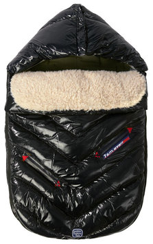 7a.m. Enfant 7 A.M. Enfant Polar Igloo Medium Footmuff In Black