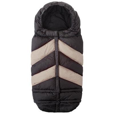 7 A.M. Enfant Blanket 212 Chevron Footmuff - Black/Beige - 1 ct.