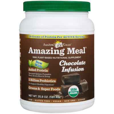Amazing Grass - Amazing Meal Powder Chocolate Infusion - 34.2 oz.