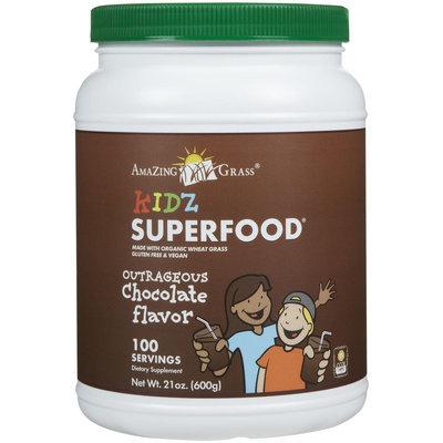 Amazing Grass Kidz SuperFood Drink Powder Outrageous Chocolate - 21 oz - Vegan