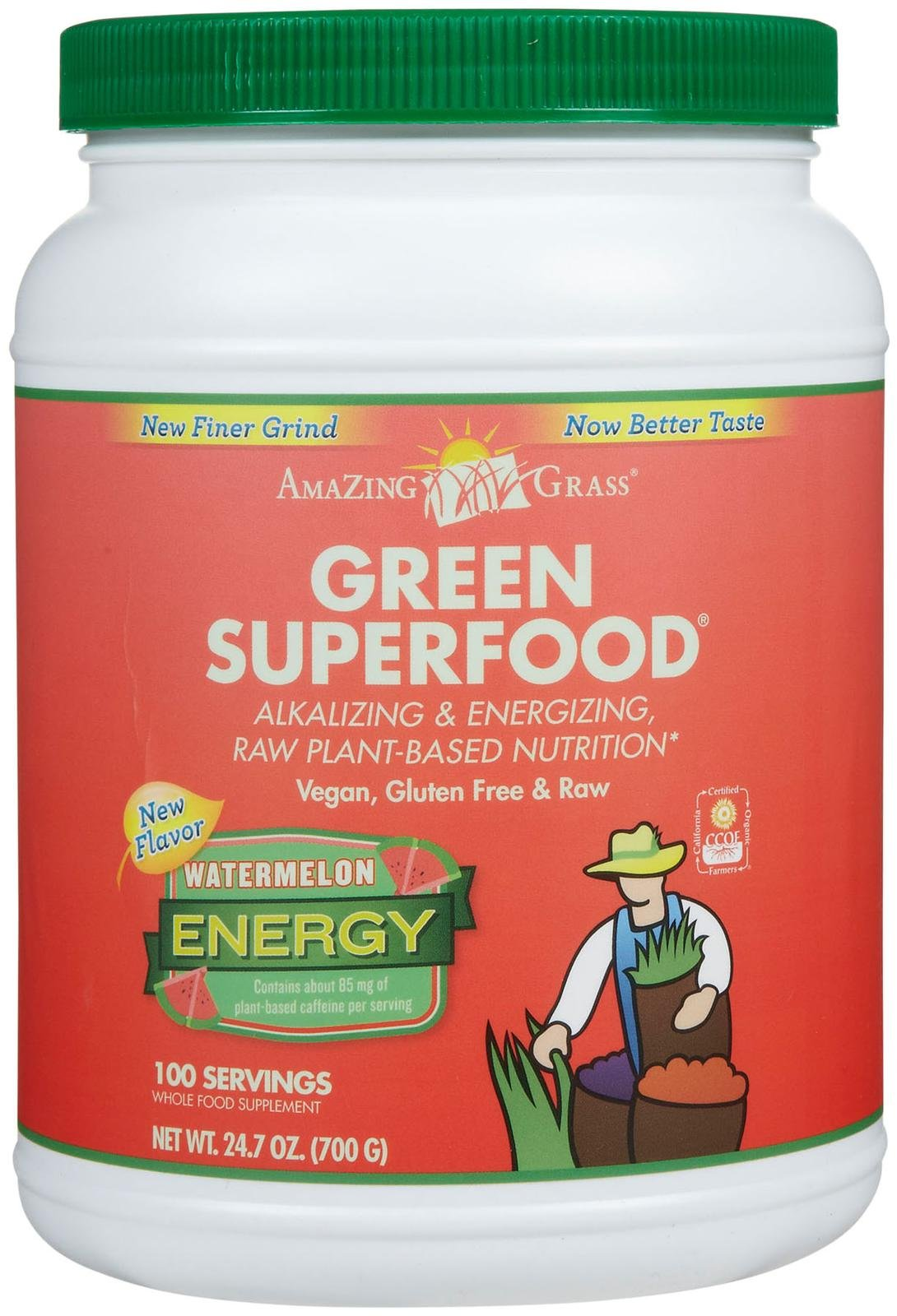 Amazing Grass Green Superfood Energy Drink Powder Watermelon - 24.7 oz