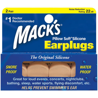 Mack's Pillow Soft Silicone Earplugs, Beige 2 Pair