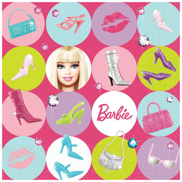 Amscan 160094 Barbie All Doll d Up Lunch Napkins- 16 count