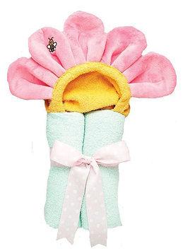 AM PM Kids Pastel Pink Flower Tubbie Towel