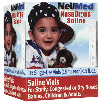 NeilMed NasaDrops Saline Single Use Vials - 1 ct.