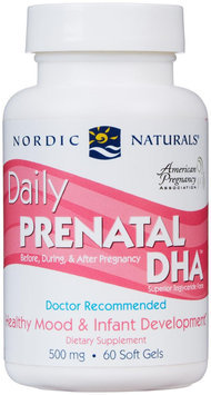 Nordic Naturals Daily Prenatal DHA - 500 mg - 60 Softgels