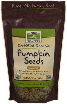 NOW Foods - Pumpkin Seeds Certified Organic Unsalted - 12 oz.