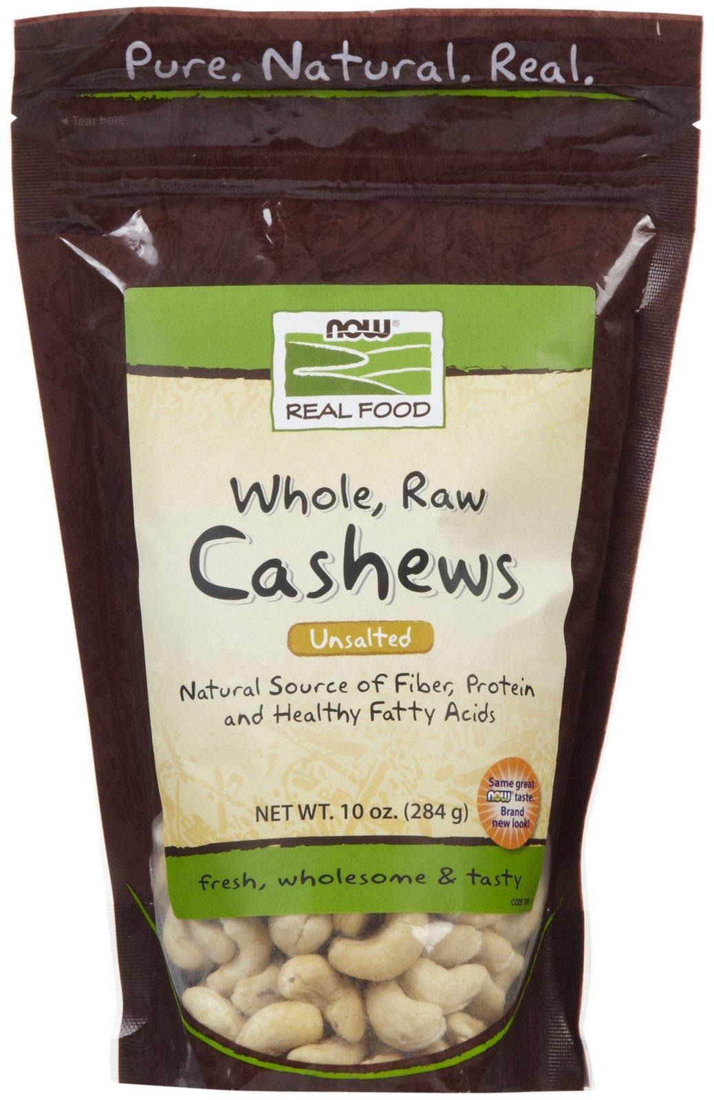 NOW Foods - Cashews Raw - 12 oz.