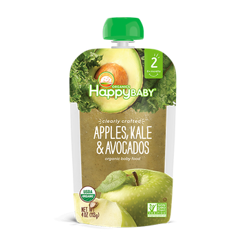 Happy Baby® Organics Clearly Crafted™ Apples, Kale & Avocados